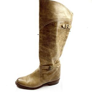 Frye Beige 77559 Dorado Leather Riding Tall Boots